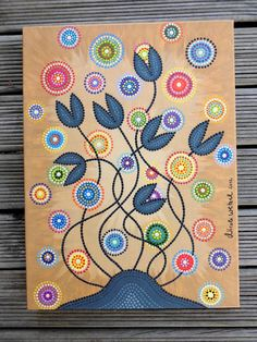 Beautiful Mind Dot Painting Canvas Gicleé Print 30 by ArtAndBeing