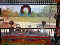 Rainbow, Rain-BOWS Birthday Party Ideas | Photo 7 of 30 | Catch My Party