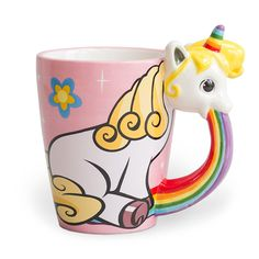 Unicorn Puking Rainbows Mug