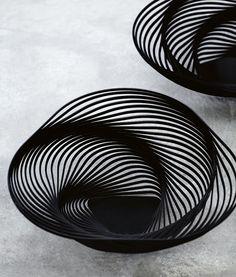 Product Design - 'Trinity' bowl by Adam Cornish for Alessi Form Design, Design Design, Vogue Living, Black N White Images, Installation Art, Textures Patterns, Interior Architecture, Cool Designs, Furniture Design