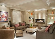 rooms with fireplaces | View in gallery Contemporary living room with a modern fireplace