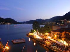 #Piemonte-Lago d'Orta #Omegna-Festa di San Vito-A fine agosto a ritmo di musica e su zattere posizionate sulle acque del lago, una cascata di fuochi artificiali lunga 400 metri ed alta 20.