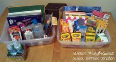 Our Elmer's #BagItForward Party School Supplies Donation #CBias #SocialFabric
