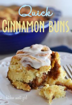 Quick Cinnamon Buns - Kitchen Meets Girl