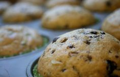 Zuchinni chocolate chip muffins...great! Didn't use as much sugar as the recipe and cut down on the vegetable oil by using applesauce.