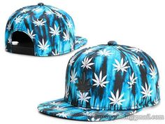 Cayler & Sons Hip-Hop Fashion Snapback Hats Caps Marijuana Blue Lava|only US$6.00 - follow me to pick up couopons.