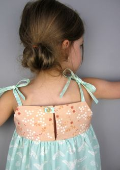 Saudade Sun Dress (+ Top) |... free pattern, fits sizes 1 -10 ~ Straight Grain for Sew Mama Sew |