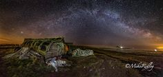 milkyway over Lindisfarne North East England, Birth, Northern Lights, Coast, Country, Places, Travel, Viajes, Rural Area