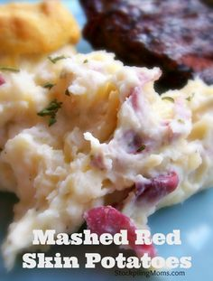 Mashed Red Skin Potatoes. These look so good right now.