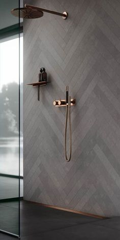 Copper bathroom fittings. Bathroom decor, ideas and inspiration. Shower interior design. #bathroomdecorideas