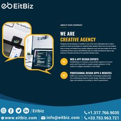 Let us helps you improve your Web design. EitBiz, provides the best c in USA. Our web design company is a one-stop shop for all design & development needs. Get in touch with us today. Web Design Services, Web Design Company, Design Agency, Design Development, Software Development, Craft Websites, Web Portfolio, Online Campaign, Professional Web Design