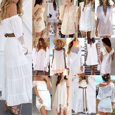Women Summer Boho Short Maxi Dress Evening Cocktail Party Beach Dresses Sundress #Unbranded #ShirtDress #Formal