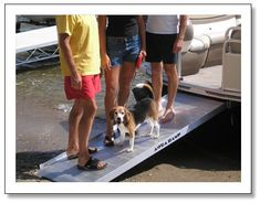 AquaRamp II allows you to board off the front of a pontoon boat.