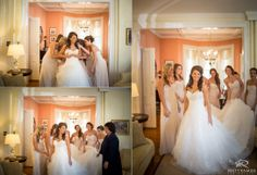 Bride getting ready with her bridesmaids © Matt Ramos Photography