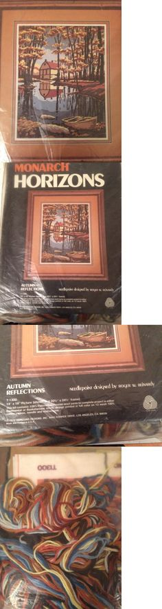Needlepoint Kits 3109: Autumn Reflections Vintage Needlepoint Kit R Reinardy Farmhouse On Lake New Rare -> BUY IT NOW ONLY: $30 on eBay!