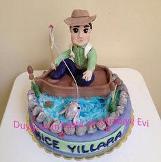 balıkçı pasta - fisherman birthday cake