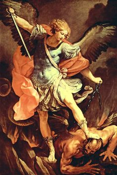 St. Michael the Archangel,  defend us in battle.  Be our defense against the wickedness and snares of the Devil.  May God rebuke him, we humbly pray,  and do thou,  O Prince of the heavenly hosts,  by the power of God,  thrust into hell Satan,  and all the evil spirits,  who prowl about the world  seeking the ruin of souls. Amen.