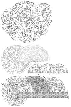 round shawl crochet pattern - pattern