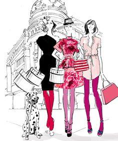 Line Fashion Art Sketch by Megan Hess Illustration Art Print A3 A2 A1 Sizes