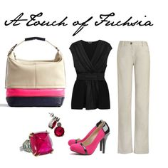 Touch of fuchsia among neutrals