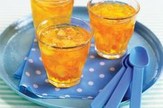 A delicious recipe for Floaty, with pear soda, orange soda, orange juice and cucumber