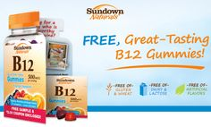 The Binder Ladies - Saving you more so you can spend less! Reviews, Giveaways, Coupons & More!: FREE Sundown Naturals Vitamin B12 Gummies Sample + $2 Coupon! (First 50,000 Only)