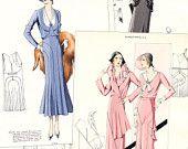 """1931 """"Croquis Original 42"""" haute couture catalog"""