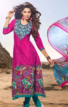 Picture of Gorgeous Pink Color Salwar Suit