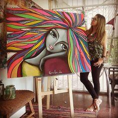 Abstract Face Art, Dot Art Painting, Heart Painting, Mandala Art, Mermaid Coloring Book, Frida Art, Mural Art, Whimsical Art, Art Plastique