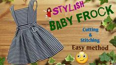 Stylish and new design Baby frock cutting and stitching full tutorial // by simple cutting - YouTube