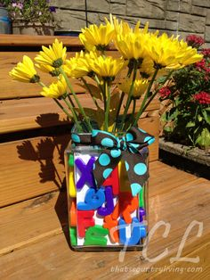 Alphabet Vase Teacher Gift