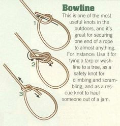 25 Camping Hacks to Teach Your Kids - Jörn Martens - 25 Camping Hacks to Teach Your Kids bowline knot - good for hanging things. Camping Hacks, Go Camping, Camping Checklist, Outdoor Camping, Scout Knots, Bowline Knot, Survival Knots, Survival Tips, Popsicle Stick Crafts