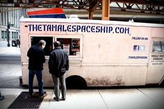 #TamaleSpaceship truck has #Facebook and #Twitter logos