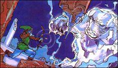 Original Zelda art by Katsuya Terada