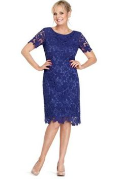 Debut dark blue lace and sequin dress