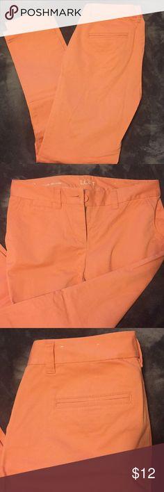 Peach colored skinny dress pants Modern skinny peach colored dress pants, new without tags LOFT Pants Skinny