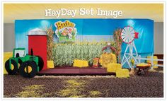 Love the paper hay on the floor - would look good going up the center aisle! :) HayDay Weekend VBS 2013 set image.
