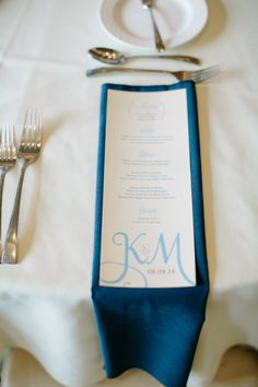 Abby Grace Photography; Classic Country Club Virginia Wedding from Abby Grace Photography - wedding menu card idea