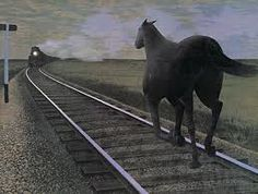 Cavalo e trem Alex Colville (Canadian ~ Magic Realism) Alex Colville, Canadian Painters, Canadian Artists, Art Gallery Of Hamilton, Pop Art, Art Gallery Of Ontario, Magic Realism, Cape Breton, Art Brut
