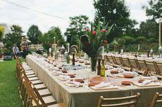 Double Banquet Tables