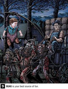 Funny pictures about Another use of zombies. Oh, and cool pics about Another use of zombies. Also, Another use of zombies. Zombie Kunst, Art Zombie, Dead Zombie, Zombie Pics, Zombie Food, Funny Zombie, The Crow, Arte Horror, Horror Art