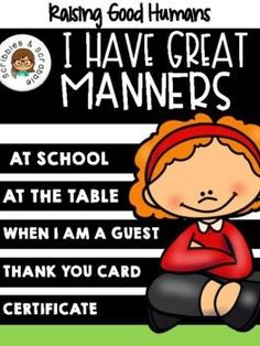 Jun 3, 2021 - Being mannerly, a very important social skill that we can't overlook. The doors of opportunity will be always opened for a child who shows proper behavior. Think about it, having good manners means putting respect into action. Who doesn't love a polite child?This packet contains activities that are ... Reading Resources, Math Resources, School Resources, Easel Activities, Kindergarten Activities, Preschool, Decoding Strategies, School Themes, Positive And Negative