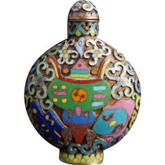 Champleve Snuff Bottle with Four Character Mark of Qianlong
