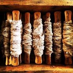 Vintage Lace  Craft Supplies  Antiqued  8 by 5dollarfrenchmarket, $5.00