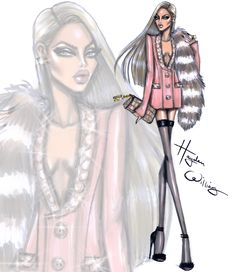 Hayden Williams Fashion Illustrations: UnFURgettable by Hayden Williams: Look 1