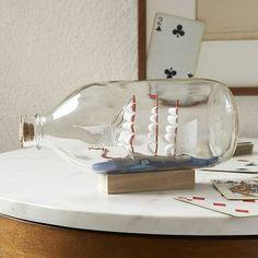 Ship in a Bottle #westelm @Nancy Kaminska