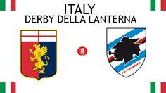 1946, Italy (1st DERBY DELLA LANTERNA), Genoa C.F.C. < > U.C. Sampdoria #GenoaCFC #UCSampdoria #Italy (L7564) Derby, Sports Logos, Football Match, Logo Design, Cards, Maps, Playing Cards