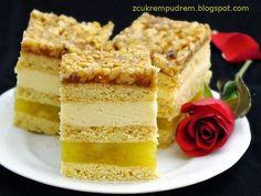 """z cukrem pudrem: ciasto """"Słodka Ula"""" Pastry Recipes, Cake Recipes, Dessert Recipes, Cooking Recipes, Polish Cake Recipe, Polish Recipes, Food Cakes, Homemade Cakes, Creative Food"""