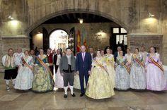 Con los Presidentes y las Falleras Mayores de las Fallas de la Sección Especial
