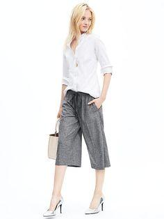 Textured Drawstring Gaucho Pant Product Image
